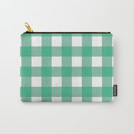 Gingham (Mint/White) Carry-All Pouch