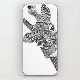 Zentangle Giraffe iPhone Skin