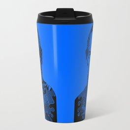 Steve Jobs blue Travel Mug