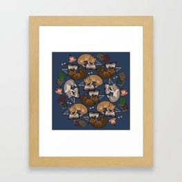 Book Cats Framed Art Print