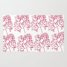 branches red graphic nordic minimal Rug