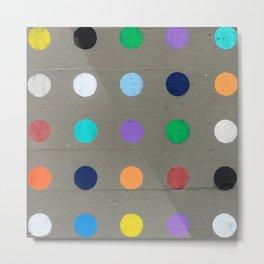 Colored dot Metal Print