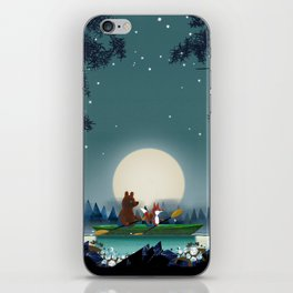 Bear and Fox iPhone Skin