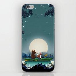 Bear and Fox iPhone Skin
