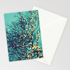 twinkle lights Stationery Cards