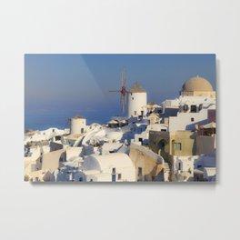 Oia Village in Santorini Metal Print