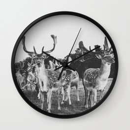 HELLO DEER II Wall Clock