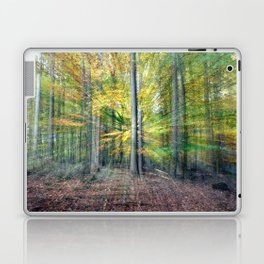 Abstract forest, intentionally blurred by zooming during exposure Laptop & iPad Skin