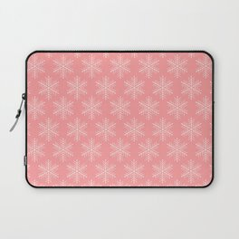 Light Red Snowflakes Laptop Sleeve