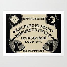 BatxCat Ouija Board Art Print