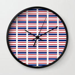 flag of thailand -thailand,Siam,thai,siamese,bangkok. Wall Clock