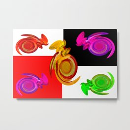 Cheerful crowd ... Metal Print