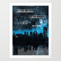 paper towns Art Prints featuring Paper Towns John Green Quote by denise