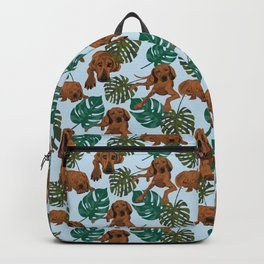 Tropical Redbone Coonhound Backpack