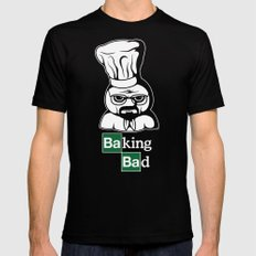 Baking Bad MEDIUM Black Mens Fitted Tee