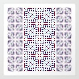 Lace Geometric Art Print