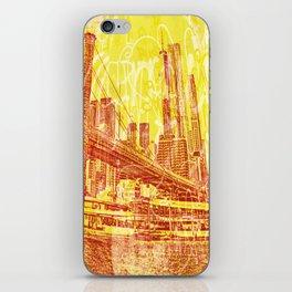 big yellow apple iPhone Skin