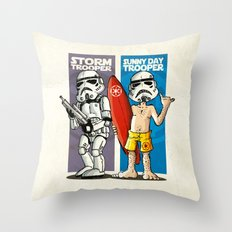 Storm and Sunny Day Trooper Throw Pillow