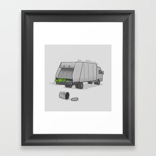 Accident on Sesame St.  Framed Art Print