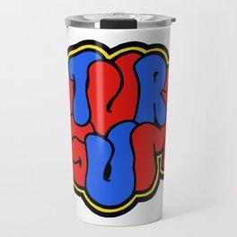 Natural Gum barcelona, logo, illustration for a music band Travel Mug