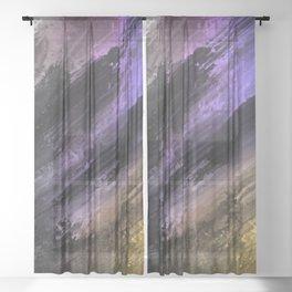 Messy strokes Sheer Curtain
