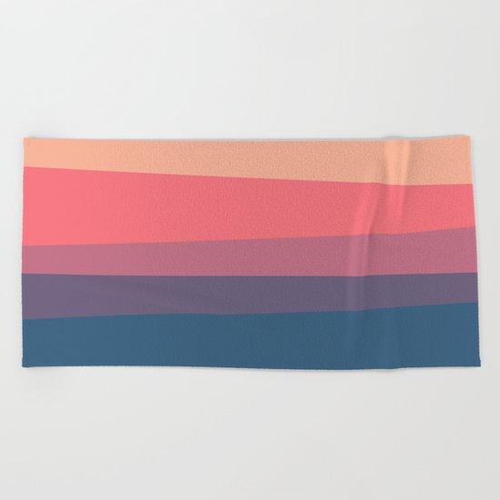 red blue color palette Beach Towel
