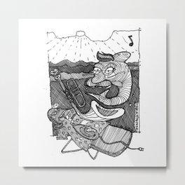 [ Dancing Dolphin ] Metal Print