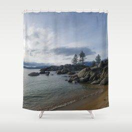 Serenity at Sand Harbor Shower Curtain