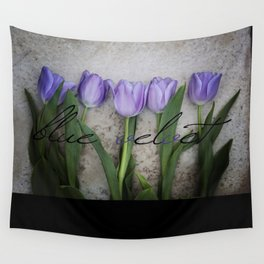 Blue Velvet 4/4 Collection Wall Tapestry