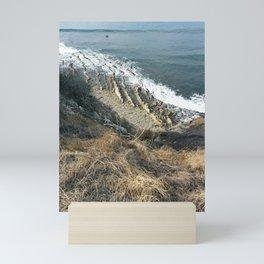 Majestic Waves Crashing   Peaceful View   Landscape   Relaxing  Mini Art Print
