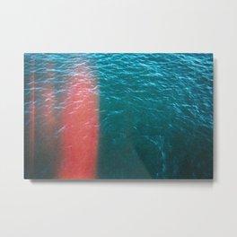 Hudson River with Light Leak Metal Print