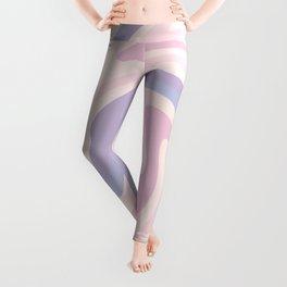70s retro swirl pink and purple Leggings