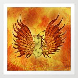 Phoenix magical creature, Rise like a Phoenix Art Print