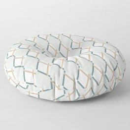 Harlequin Diamonds - Gray Floor Pillow