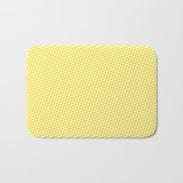 Baby Sharkstooth Sharks Pattern Repeat in White and Yellow Bath Mat