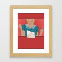 Fuck Politeness Framed Art Print