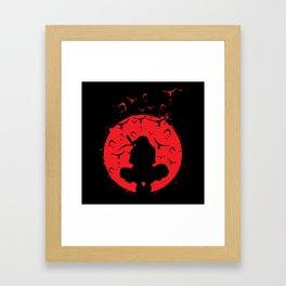 Silhouette Itachi Framed Art Print