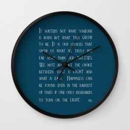 Dumbledore wise quotes Wall Clock