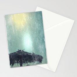 Umbrella on Beach (alt) Stationery Cards