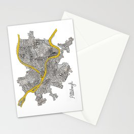 Pittsburgh Neighborhoods | 3 Gold Rivers Stationery Cards