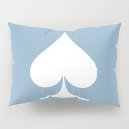 spade sign on placid blue background Pillow Sham