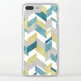 Bright geometrical pattern Clear iPhone Case