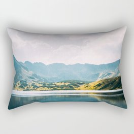 Autumn Mountain Lake Rectangular Pillow