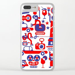 USA Independence Day Clear iPhone Case
