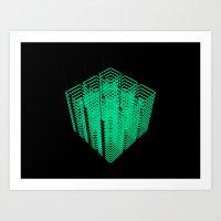29D (N) : Neon - Cube Art Print