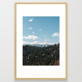 Mountains Peaking Framed Art Print