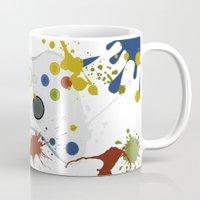 xbox Mugs featuring Controller Graffitti XBOX by AngoldArts