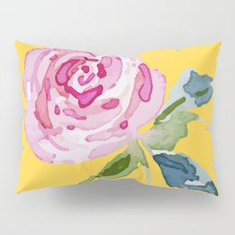 Watercolor Rose Pillow Sham