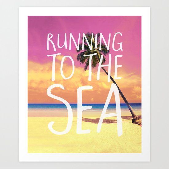 Running to the Sea Art Print