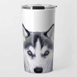 siberian husky2 Travel Mug